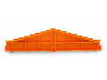 8-level end plate; marking: 0-1-2-3-4-5-6-7--7-6-5-4-3-2-1; 7.62 mm thick; orange