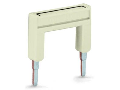 Push-in type jumper bar; insulated; from 1 to 8; Nominal current 32 A; light gray