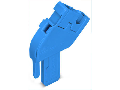 Start module for 1-conductor female connector; angled; 4 mm; 1-pole; 4,00 mm; blue