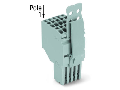 2-conductor female connector; Strain relief plate; 1.5 mm; 10-pole; 1,50 mm; gray