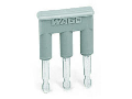 Comb-style jumper bar; insulated; 3-way; IN = IN terminal block; gray