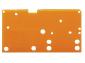 End plate; snap-fit type; 1.5 mm thick; orange