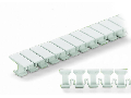 Marker tags; not stretchable; plain; snap-on type; white