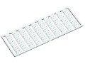 WSB marking card; as card; MARKED; F21, ..., F30 (10x); not stretchable; Vertical marking; snap-on type; white