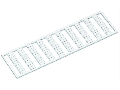 WMB marking card; as card; MARKED; a, b, c, e, u, v, w, x, y, z (10x); not stretchable; Vertical marking; snap-on type; white