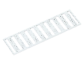 WMB marking card; as card; MARKED; R1, S1, T1, U1, V1, W1, X1, Y1, Z1,SL (10x); stretchable 5 - 5.2 mm; Horizontal marking; snap-on type; white