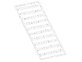 WMB marking card; as card; MARKED; 60, 70 ... 100 (20 each); stretchable 5 - 5.2 mm; Horizontal marking; snap-on type; white