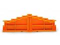 4-level end plate; marking: d-c-b-a--a-b-c-d; 7.62 mm thick; gray/gray