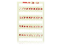 WSB marking card; as card; MARKED; 10, 20 ... 50 (20 each); not stretchable; Vertical marking; snap-on type; white