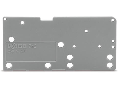 End plate; snap-fit type; 1.5 mm thick; gray