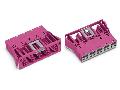Snap-in socket; 5-pole; Cod. B; 4,00 mm²; pink