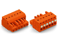 1-conductor female plug; push-button; 2.5 mm²; Pin spacing 5.08 mm; 2-pole; 2,50 mm²; orange