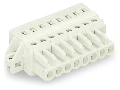 1-conductor female plug; 100% protected against mismating; clamping collar; 2.5 mm²; Pin spacing 5 mm; 6-pole; 2,50 mm²; light gray
