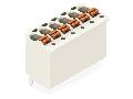1-conductor THR female header; 1.0 mm Ø solder pin; straight; 1.5 mm²; Pin spacing 3.5 mm; 10-pole; 1,50 mm²; light gray