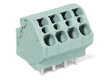 PCB terminal block; 4 mm²; Pin spacing 5 mm; 5-pole; CAGE CLAMP®; 4,00 mm²; gray