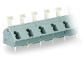 PCB terminal block; push-button; 2.5 mm; Pin spacing 10/10.16 mm; 4-pole; CAGE CLAMP; commoning option; 2,50 mm; gray