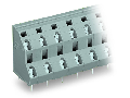 Double-deck PCB terminal block; 2.5 mm; Pin spacing 10 mm; 2 x 4-pole; CAGE CLAMP; 2,50 mm; gray