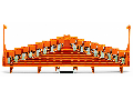 8-level same potential terminal block; for 35 x 15 mounting rail; 1,50 mm; orange