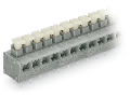 2-conductor PCB terminal block; push-button; 0.75 mm; Pin spacing 5/5.08 mm; 3-pole; PUSH WIRE; 0,75 mm; gray