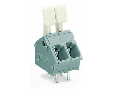 PCB terminal block; finger-operated levers; 2.5 mm; Pin spacing 5/5.08 mm; 4-pole; CAGE CLAMP; commoning option; 2,50 mm; gray