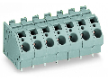 PCB terminal block; 6 mm; Pin spacing 10 mm; 8-pole; CAGE CLAMP; commoning option; 6,00 mm; gray