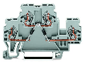 Component terminal block; double-deck; with 2 diodes 1N4007; Top anode; for DIN-rail 35 x 15 and 35 x 7.5; 2.5 mm; CAGE CLAMP; 2,50 mm; gray