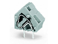Stackable PCB terminal block; 2.5 mm; Pin spacing 10/10.16 mm; 1-pole; CAGE CLAMP; commoning option; 2,50 mm; light green