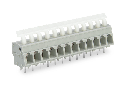 PCB terminal block; push-button; 2.5 mm; Pin spacing 5/5.08 mm; 10-pole; CAGE CLAMP; commoning option; 2,50 mm; gray