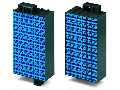 Matrix patchboard; 48-pole; Marking 1-48; suitable for Ex i applications; Color of modules: blue; Module marking, side 1 and 2 vertical; 1,50 mm; dark gray
