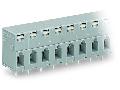 PCB terminal block; push-button; 2.5 mm; Pin spacing 7.5 mm; 2-pole; CAGE CLAMP; 2,50 mm; gray