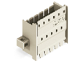 Panel feedthrough male connector; clamping collar; Pin spacing 5 mm; 6-pole; light gray