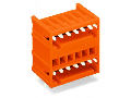 THT double-deck male header; 1.0 x 1.0 mm solder pin; angled; 100% protected against mismating; Pin spacing 3.81 mm; 6-pole; orange