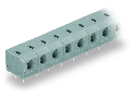 PCB terminal block; 2.5 mm²; Pin spacing 7.5/7.62 mm; 4-pole; PUSH WIRE®; 2,50 mm²; gray