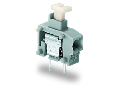 Stackable 2-conductor PCB terminal block; push-button; 0.75 mm²; Pin spacing 5/5.08 mm; 1-pole; PUSH WIRE®; 0,75 mm²; gray