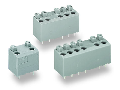 PCB terminal block; push-button; 1.5 mm²; Pin spacing 5 mm; 6-pole; PUSH WIRE®; 1,50 mm²; gray