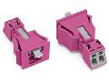 Snap-in plug; 2-pole; Cod. B; 1,50 mm²; pink