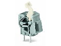 Stackable PCB terminal block; push-button; 2.5 mm²; Pin spacing 7.5/7.62 mm; 1-pole; CAGE CLAMP®; commoning option; 2,50 mm²; dark gray