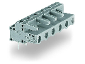 THT female header; 0.6 x 1.0 mm solder pin; angled; Pin spacing 7.5 mm; 8-pole; gray