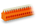 PCB terminal block; push-button; 1.5 mm²; Pin spacing 3.81 mm; 5-pole; Push-in CAGE CLAMP®; 1,50 mm²; orange