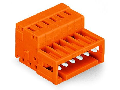 1-conductor male connector; 100% protected against mismating; 1.5 mm²; Pin spacing 3.81 mm; 14-pole; 1,50 mm²; orange
