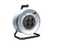 Tambur metalic pentru prelungitor tip Derulator - 4 prize - pentru cablu 3x2.5- maxim 50ml