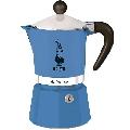 Espressor pentru aragaz Bialetti, capacitate 3 cupe, Seria Rainbow, albastru