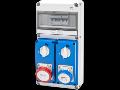 Organizator de santier Q-DIN 10 ASD - 2 IEC 309 - IP65