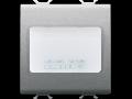 AUTONOMOUS EMERGENCY LAMP - 230Vac 50/60Hz 1h - 2 MODULES - TITANIUM - CHORUS