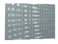 Panouri perforate set de 2 buc 952mm, 28mm, 1018mm