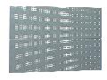 Panouri perforate set de 2 buc 1436mm, 28mm, 1018mm