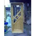 Usa din lemn masiv de brad