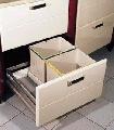 Cos de gunoi pentru sertare mari (2 compartimente)