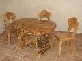Masa si scaune rustice