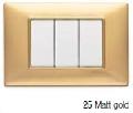 Intrerupatoare Vimar Plana ,ansamblu 3 module - ornament metalizat aur mat